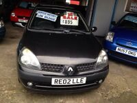 2003 RENAULT CLIO 1.2 DYNAMIQUE FULL SERVICE HISTORY ONLY 72000 MILES £895!!!