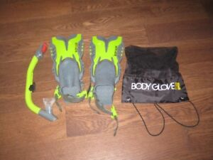 Child's flippers and snorkel set