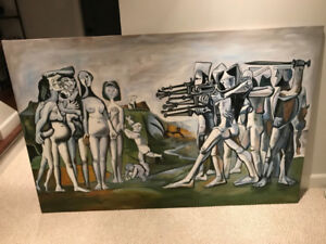Picasso Oil Painting: Massacre in Korea Reproduction - $85 OBO
