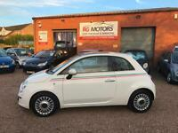 2008(58) Fiat 500 1.3 MultiJet LOUNGE, White, Diesel **ANY PX WELCOME**