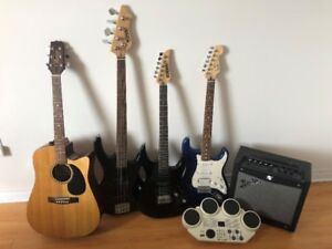 Fender Stratocaster and Fender Amp and more