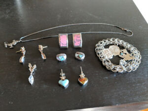 Ladies Silver earrings and jewellery