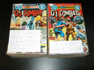 G.I. Combat 220 to 288. High grades! 69 books. Price reduced!