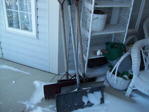 SNOW SHOVELS  --  3 OF THEM