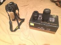 Nikon D3300 with 3 lens - box - and extras!