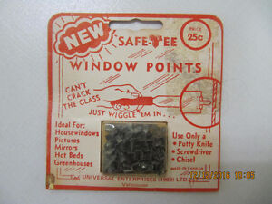 Vintage Safe Tee Window Points For Wooden Windows/Frames Cir1969