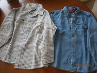 2 chemises (1 souris-mini flanellette et 1 jeans) 6 ans