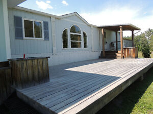 Reduced 4.99 acres with home and shop near Drayton Valley