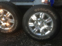 18 inch Chrome Clad wheels on Wrangler Ats tires f150