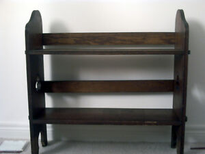 Handcrafted wooden bookcase.