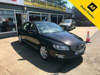 2015 Volvo S80 2.4 D5 SE LUX 4d 212 BHP IN BLACK WITH 52,000 MILES AND A FULL SE