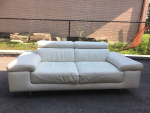 Leather Natuzzi Loveseat in very good condition