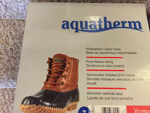 New! Aquatherm boots ladies size 6 or 7 Kitchener / Waterloo Kitchener Area image 2
