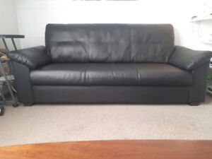 Ikea faux leather Sofa (Black)