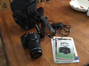 Canon rebel T4i EOS camera with 18-135mm lens