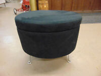 Black Footstool with Storage