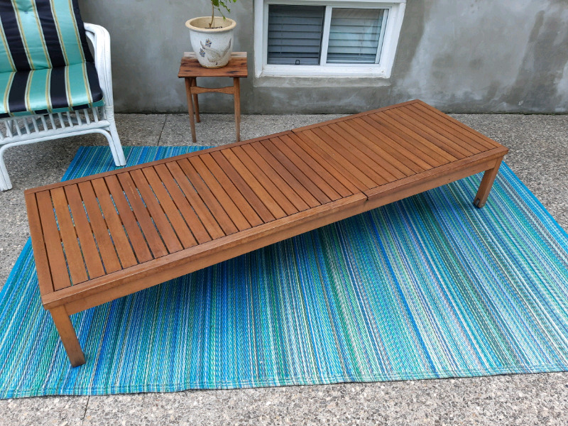 teak lounge chair delivery available patio garden furniture