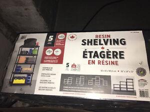 5 shelf resin shelving units