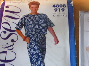 Assorted sewing patterns in assorted sizes