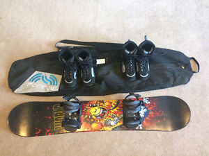 Snowboard Package: Snowboard, Boots, Bindings, Bag