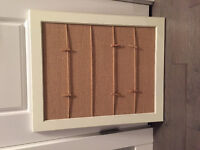 Cork board with clothes pins