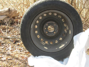All season tires on rims, 205/60/15