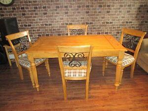 Set de Cuisine avec 4 chaises Style ''Rustique''