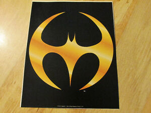 DC Comics Promo BATMAN Static Cling Wndow Decal 1993