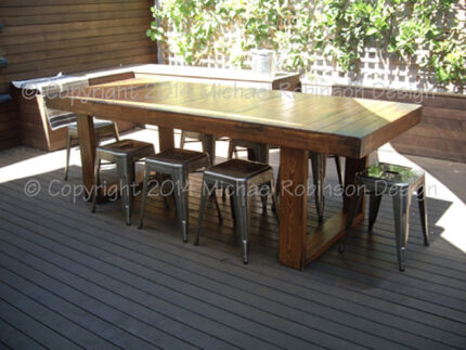 Rustic Industrial Dining Table Rustic Dining Table Recycled
