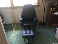 Massage Recliner and Stool