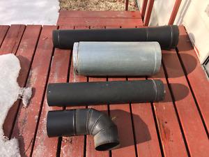 Wood stove & stove piping