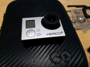 GoPro Hero 3+ Plus Silver with extra batteries and case