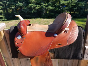 Western Saddle and misc tack