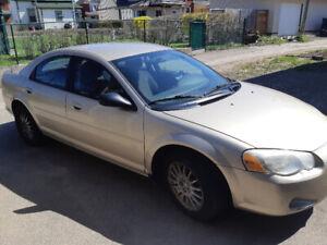 Only 88400km.  2006 Chrysler Sebring $1500