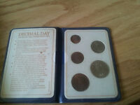 Britain's first decimal coinage set.
