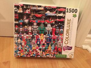 Casse-tête de robots et vieux jouets