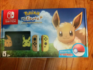 Brand new console Nintendo switch Pokemon Let's go Eevee