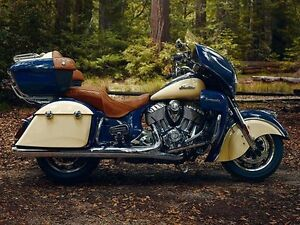 2016 Indian Roadmaster Springfield Blue and Ivory Cream