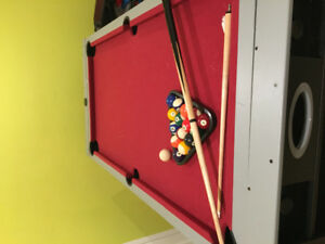 3 in 1 Pool- air hockey and tennis table