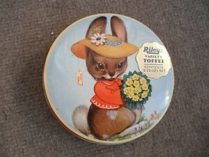 old toffee tin