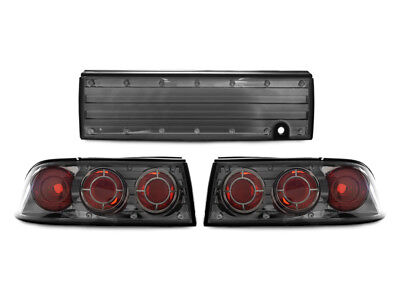 Euro Gunmetal Altezza Rear 3 Pieces Tail Lights For 92-94 Mitsubishi Eclipse