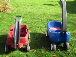 Kids Step 2 Wagon and Kids  Little Tykes Wagon