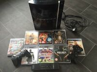 PS3, games, 2x controllers & remote!