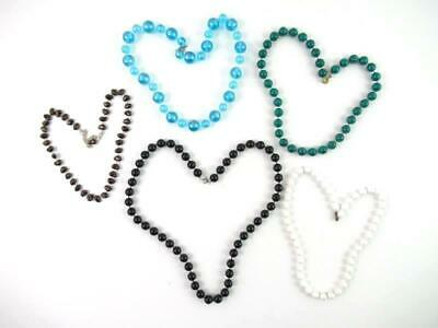 Lot of 5 Bead Strand Necklaces Various Colors Lengths