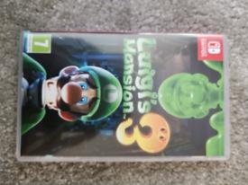 Switch game luigis mansion 3