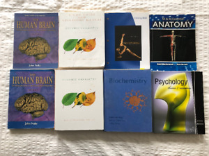 Textbooks- Human Kinetics, Chemistry, Physiology, Aviation