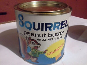 Collectable Squirrel Peanut Butter Tin Crunchy