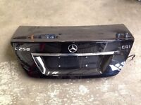 Mercedes c class bootlid tailgate boot w204 spoiler complete