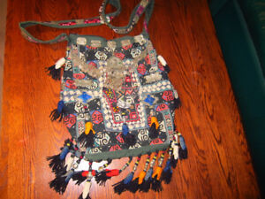 One of a kind Moroccan shoulder bag, hand-made, very elaborate,