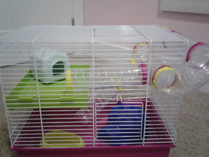 A Hamster Cage + Budgie Nesting box + dwarf hamster ball